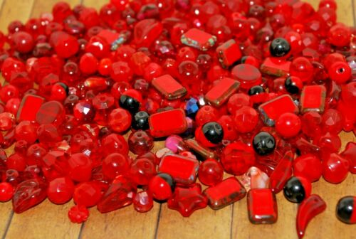 Premium Czech Glass Bead Mix Dagger AB 60g Fire Polished 3mm -20mm Seed
