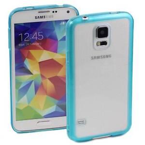 BLUE-SAMSUNG-GALAXY-S5-CASE-HARD-BACK-CLEAR-TPU-SILICONE-BUMPER-COVER-M75