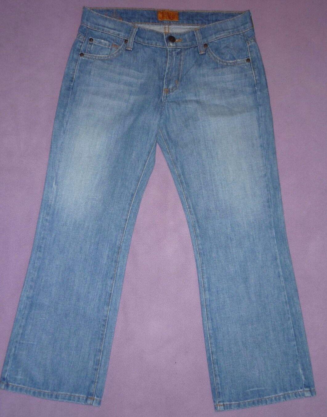08aa312c New James Jeans USA Designer Preserved Denim Mid Rise Capri Cropped Jeans 8  26