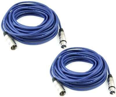 Responsible 2 X 10 M Mikrofonkabel Symmetrisch Adam Hall Blau Xlr 3 Pol Dmx Mikrofon Kabel Video Production & Editing Dj Equipment