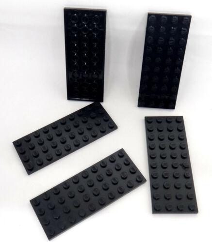 Lego 5 x Lego Platte 4x10 schwarz 3030