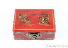 Dragon Phoenix China joyería, caja de madera laca