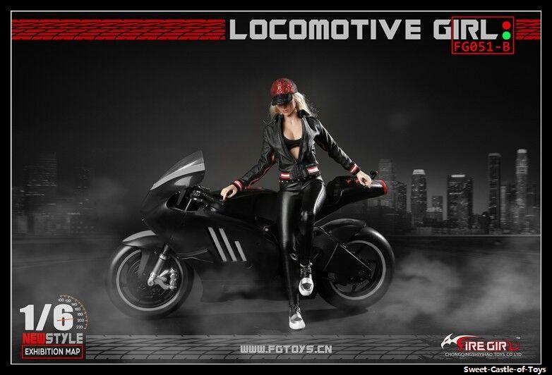 1 6 Fire Girl Toys FG051B Female Locomotive Girl Motor Leather Set For Phicen