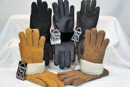 5 COLORS 100/% REAL SHEEPSKIN SHEARLING LEATHER GLOVES UNISEX Fur Winter S-2XL