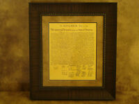 DECLARATION OF INDEPENDENCE PRINTED PARCHMENT PAPER FRAMED
