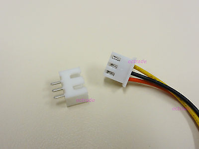 XH 2.5mm 3-Pin Connector Plug with Wire x 10 sets