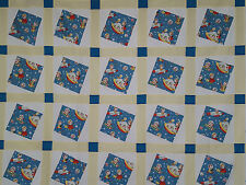 Unfinished Quilt Top-Square in a Square, Small Children in Space, approx 71 x 80