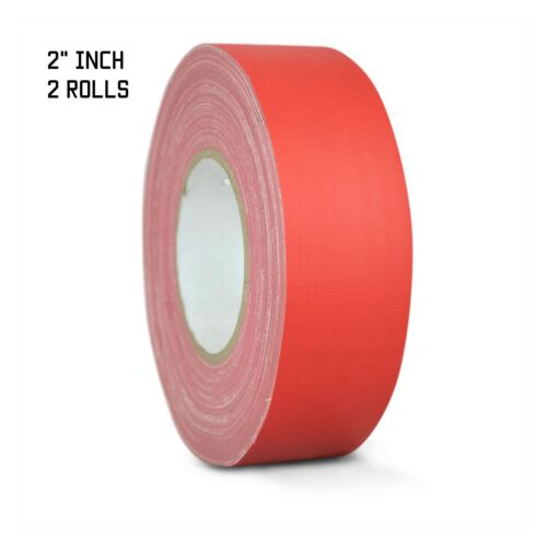 2 PACK GAFFERS STAGE TAPE - RED - 2 INCH X 60 YARDS