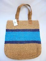 Straw Studios Crochet Straw Large Tote Bag With Tags