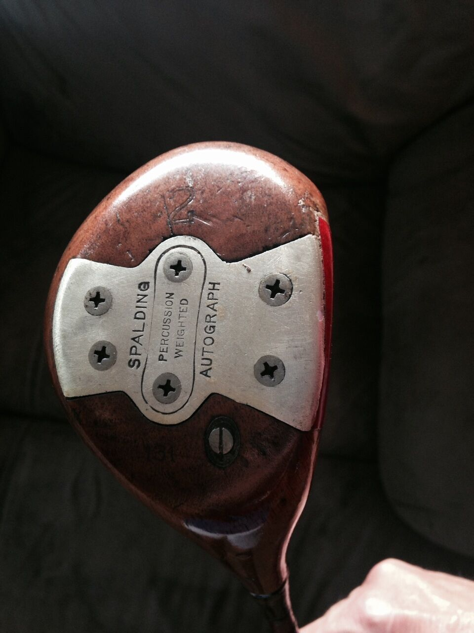 Spalding Persimmon Autograph Bobby Jones 2 wood