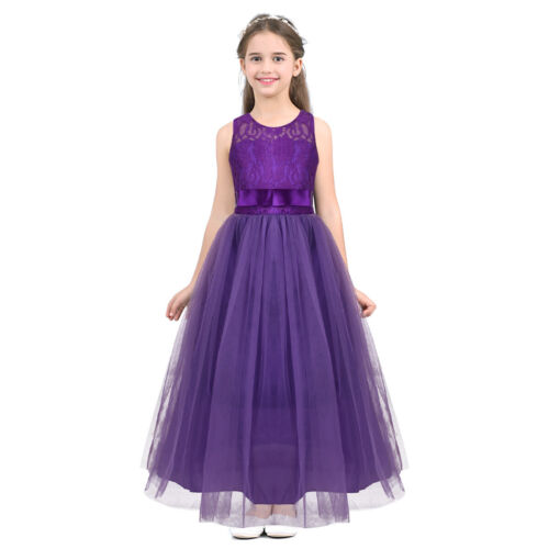 Flower Girl Dress Princess Party Pageant Wedding Bridesmaid Tutu Dress Maxi Gown