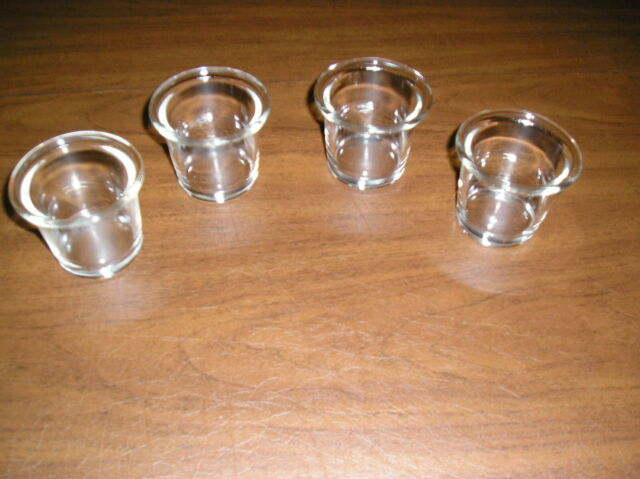 """Clear Votive Candle Holder Set of  4   2 3//8/"""" tall /& 2 /"""" wide"""