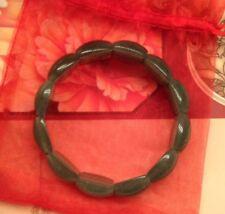100% Natural Beautiful China Emerald Green Aventurine Jade Gems Bangle Bracelet