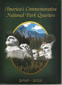 America-039-s-Commemorative-National-Park-Quarters-2010-2021-Coin-Folder-NEW