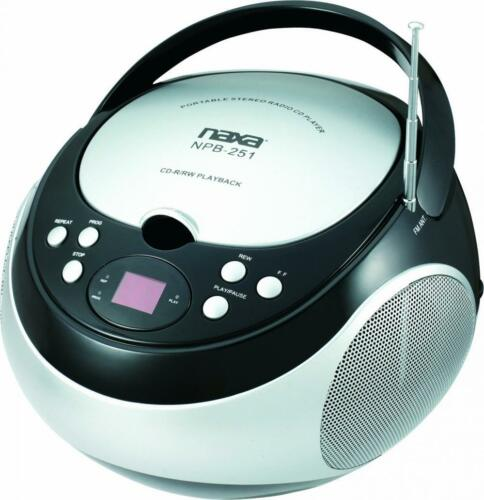 NAXA Electronics NPB-251BU Portable CD Player with AM//FM Stereo Radio Blue