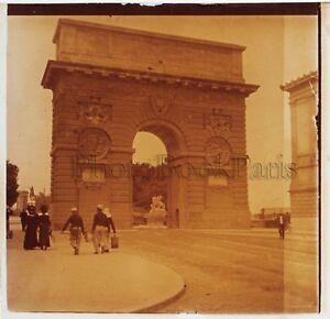 Francia Montpellier L Arco Foto Placca Da Lente Stereo Positivo Vintage
