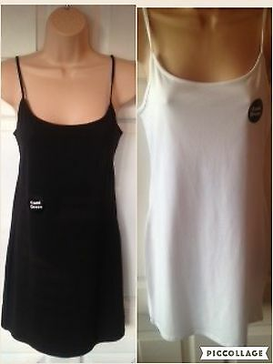 Nachdenklich Primark Ladies Stretch Cami Slip Dress Adjustable Straps Bnwt- Nightywear