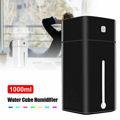 1000ml Wireless USB Dual Spray Humidifier Mist Air Diffuser Purifier For Room