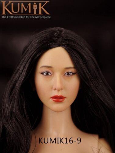 "Hot Toys KUMIK 1//6 Scale Female Head Sculpt For 12/"" Action Figure Phicen Body"