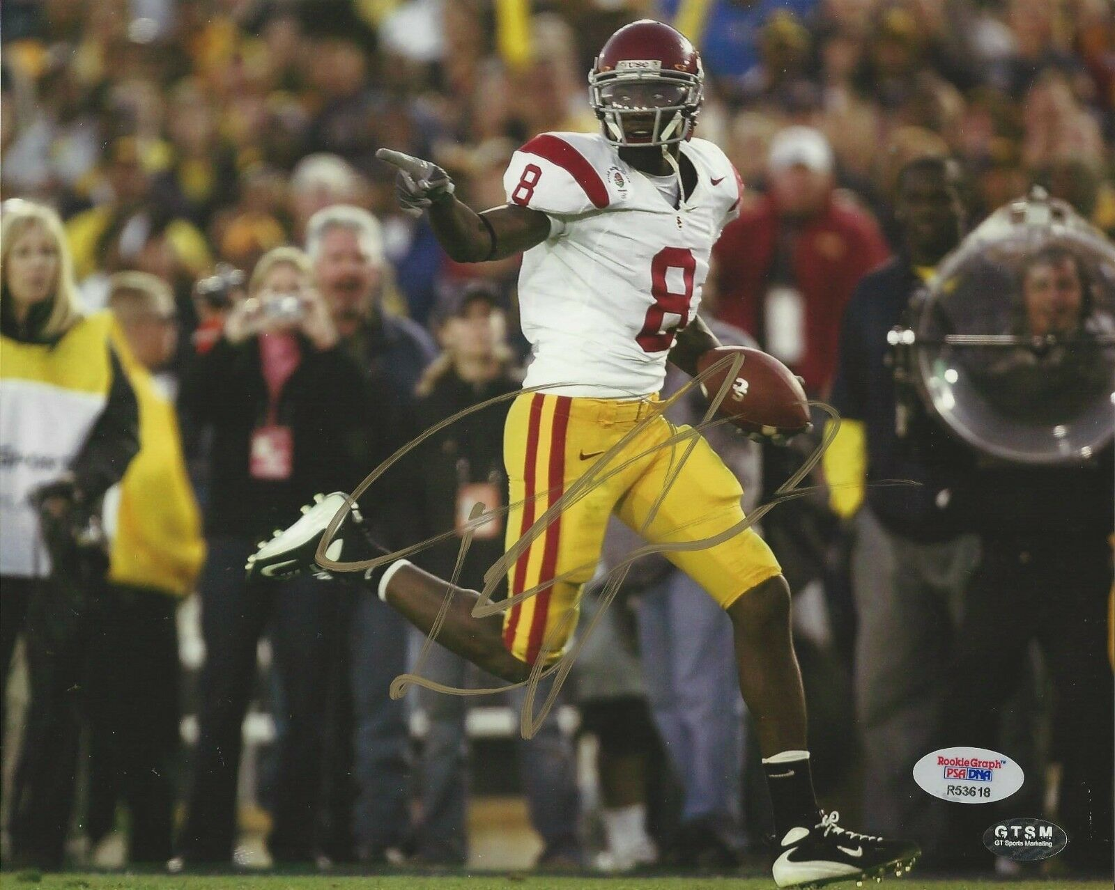 Dwayne Jarrett USC Trojans signed 8x10 photo PSA/DNA # R53618