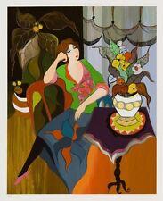"Art QUALITY CANVAS PRINT, Itzchak Tarkay oil painting c80 Denis Day Dreami12x15"""