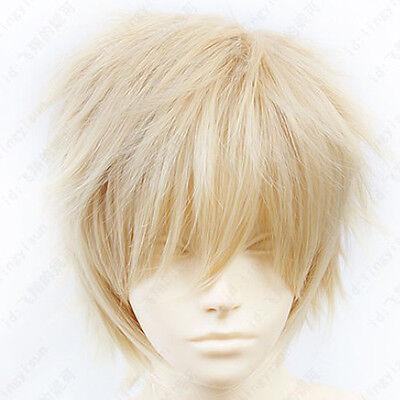 48 Hakkenden Touhou Hakken Ibun Ozaki Kaname Short Gray Blond Cosplay Wig