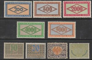 Stamp-Germany-Reich-Revenue-Tax-Stempel-Fiscal-Official-Fee-Selection-Lot-MNH