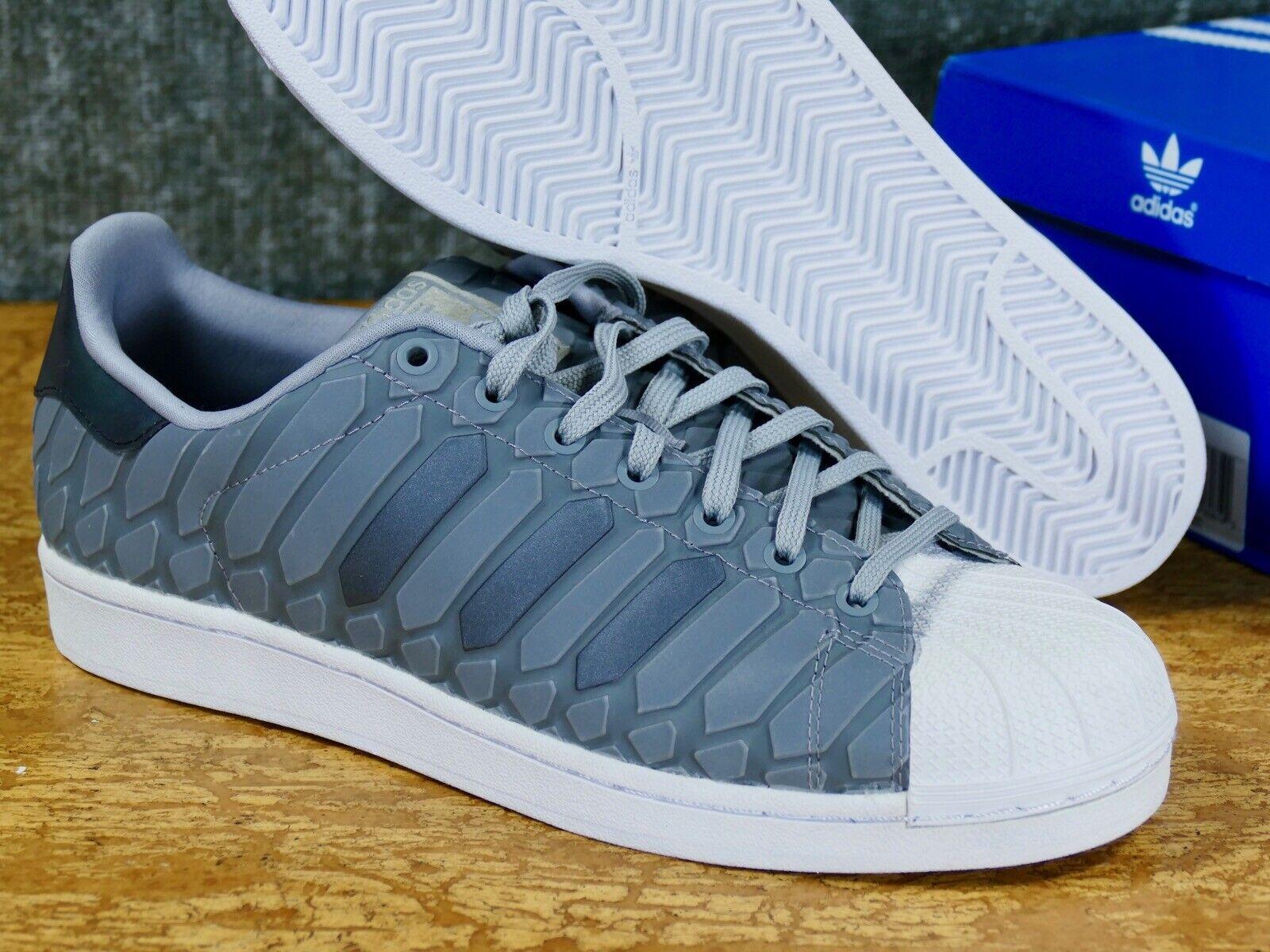 adidas Superstar XENO Light Onyx Grey 3m Reflective Snakeskin Size 12