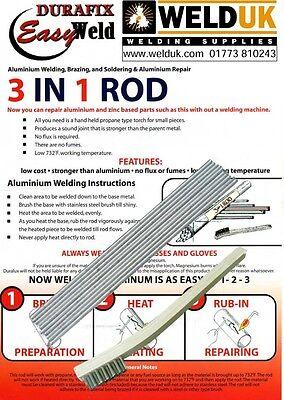 welding brazing USE GAS TORCH AlumSolder Classic LQ 4 Aluminium repair rods