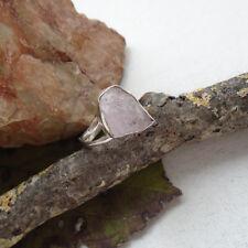 Rosenquarz Druse, rosa, Edelstein, Ring, Ø 18,25 mm, 925 Sterling Silber, neu