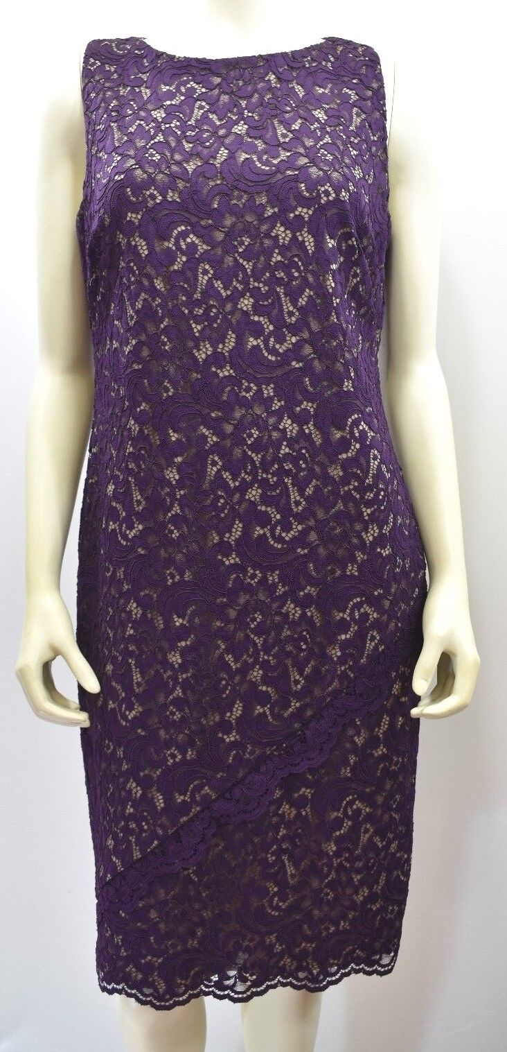 RALPH LAUREN LACE DRESS SZ 12 NEW WITH TAG
