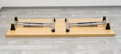 Klapptisch 138x69 cm Besprechungstisch Tisch klappbar Bürotisch vh-büromöbel