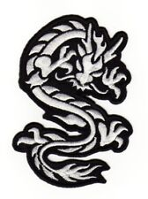 an90 Drache Asien Tattoo Dragon Aufnäher Bügelbild Applikation 11,5 x 8,0 cm