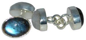Cadena-De-Plata-Esterlina-925-Gemelos-Doble-Piedra-Lunar-Labradorita-4-Gem-Gemelos