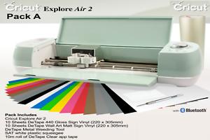 New Cricut Explore Air 2 Cutting Machine Bundle A Uk Or Eu Plug Vinyl Craft Ebay