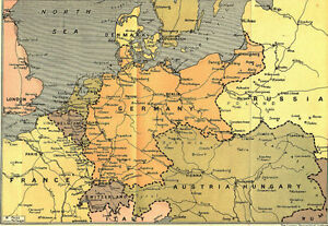 Details about 6x4 Gloss Photo ww1DA7 World War 1 Maps Map Of Central Europe