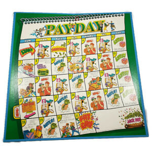 Vintage-1994-Payday-Game-Board-Replacement-Parts-Pieces-Parker-Brothers-Craft
