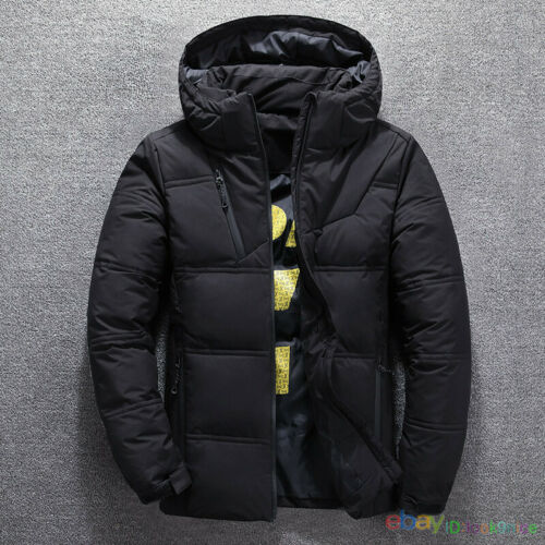 Men Winter Warm Duck Down Jacket Ski Jacket Snow Thick Hooded Puffer Coat Parka