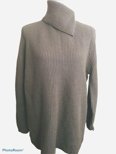 Bobbi Brooks Split Turtleneck Sweater Size Large T