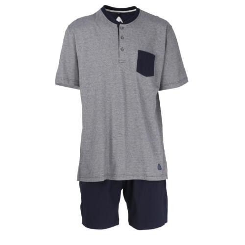 54  navy blaze  3er Knopfleiste Ceceba Herren Pyjama Schlafanzug kurz Gr