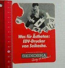 Aufkleber/Sticker: Seikosha - Seiko Gruppe (15061660)