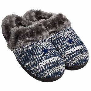 5e57d34e5 Image is loading Dallas-Cowboys-Slippers-Logo-NEW-Womens-Slide-House-