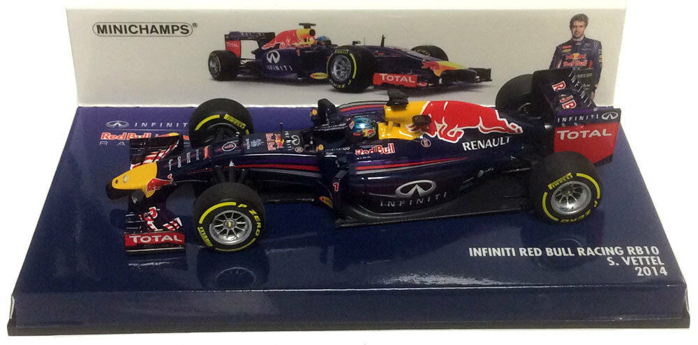 Minichamps Red Bull RB10 2014 - Sebastian Vettel 1 43 Scale