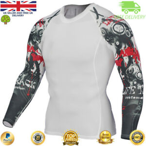 Mens-compression-top-gym-crossfit-MMA-Skull-Cycling-muscle-Punisher-high-quality