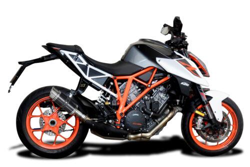 """Delkevic KTM Slip On 1290 Super Duke Mini 8/"""" Carbon Round Muffler Exhaust 14-19"""