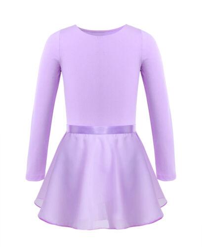 Toddler Kids Ballet Dance Dress Girls Gymnastics Skate Wrap Scarf Chiffon Skirt