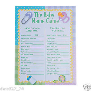 Nice Image Is Loading 24 Baby Shower Party Game Activity Ice Breaker