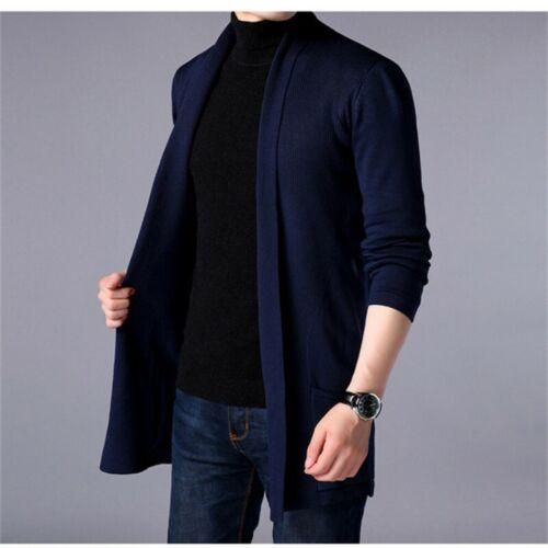 Men Winter Warm Casual Cardigan Knit Sweater Jacket Knitwear Coat Blazer Outwear