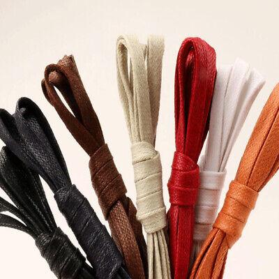 1Pair Waxed Flat Shoelaces Waterproof Casual Shoe Laces Unisex Boots Shoelace CA