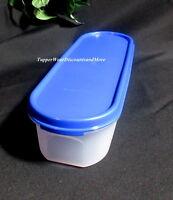 Tupperware Modular Mates Super Oval 1 One Container Brilliant Blue Seal
